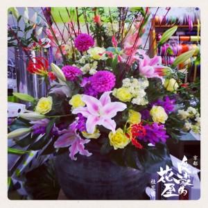京都,花屋,アレンジメント,つぼ花